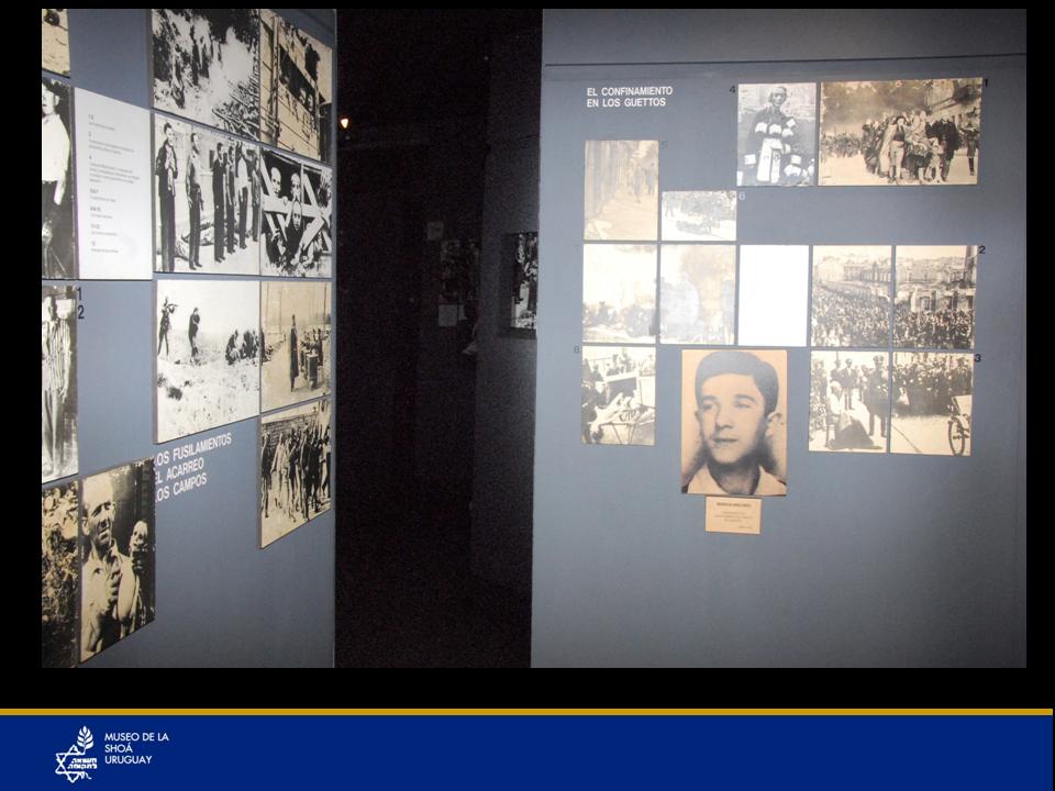 Vista general de algunas de las fotos entrando al museo.